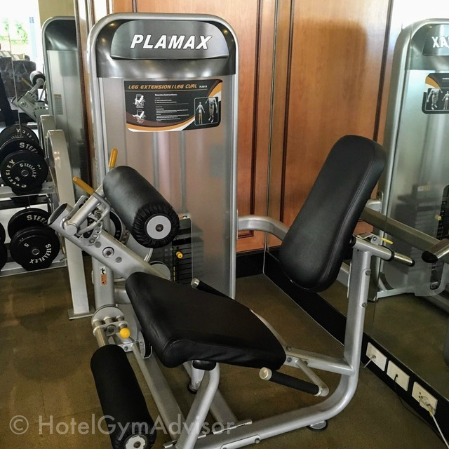 Leg extension/curl machine at Sherwood Residence