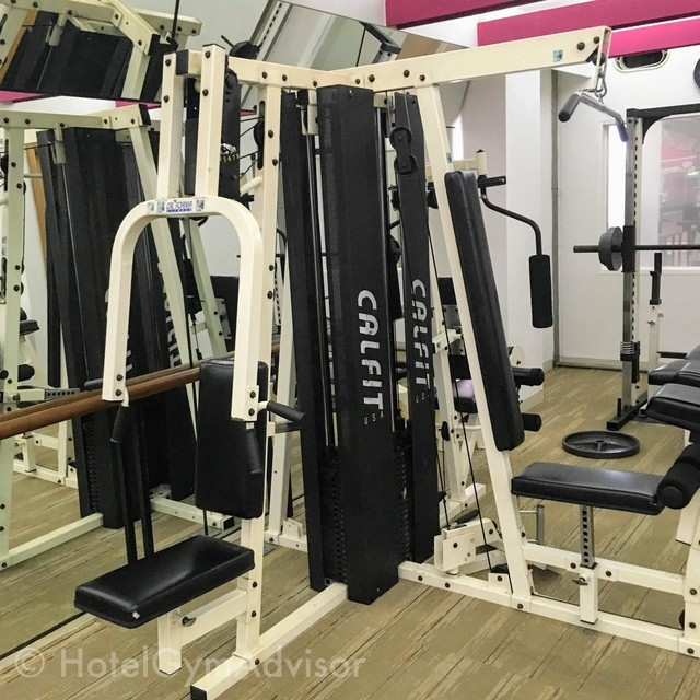 Weight machines at Hotel du Parc Hanoi