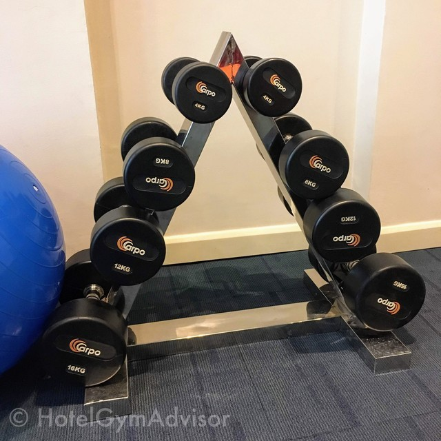 Dumbbells at Mercure Hanoi La Gare