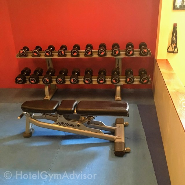 Dumbbells at Hilton Hanoi Opera