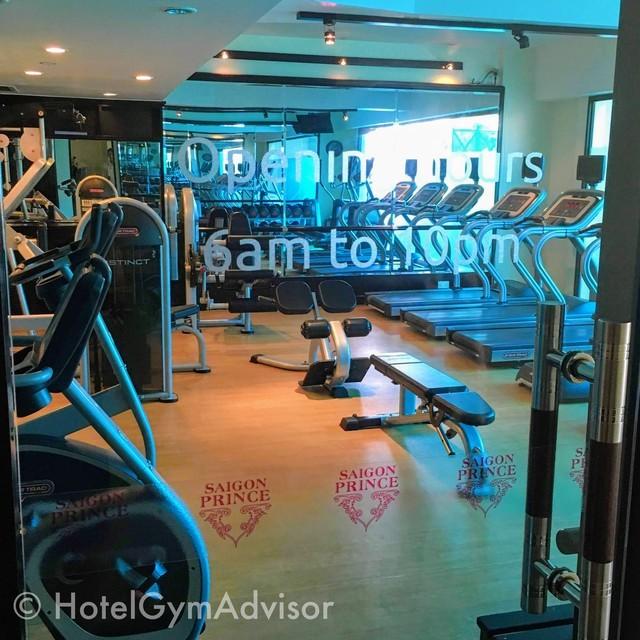 サイゴンプリンスホテルのジムの入り口