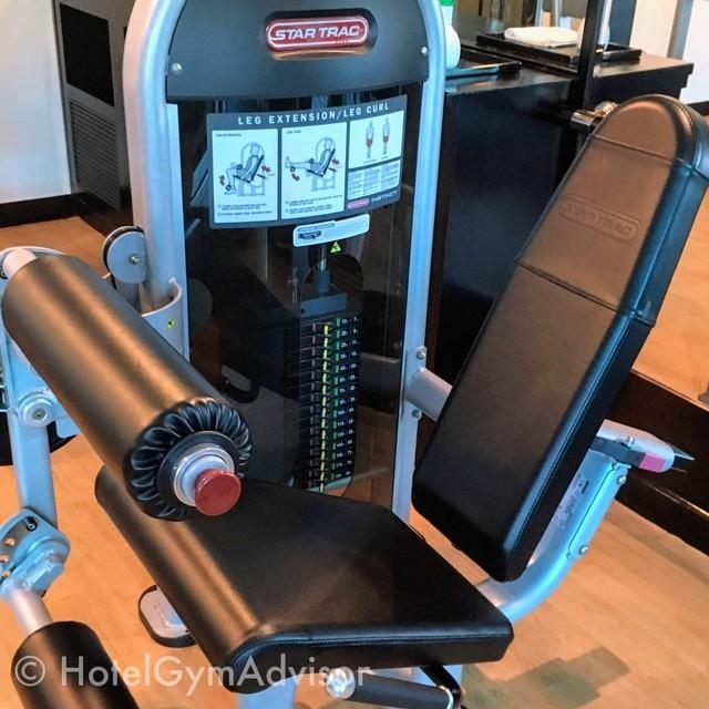 レッグエクステンションとレッグカールの兼用マシン