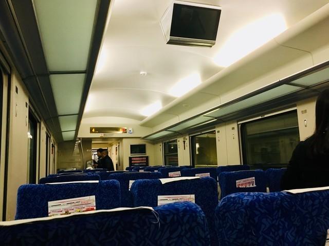 広九直通列車の車中