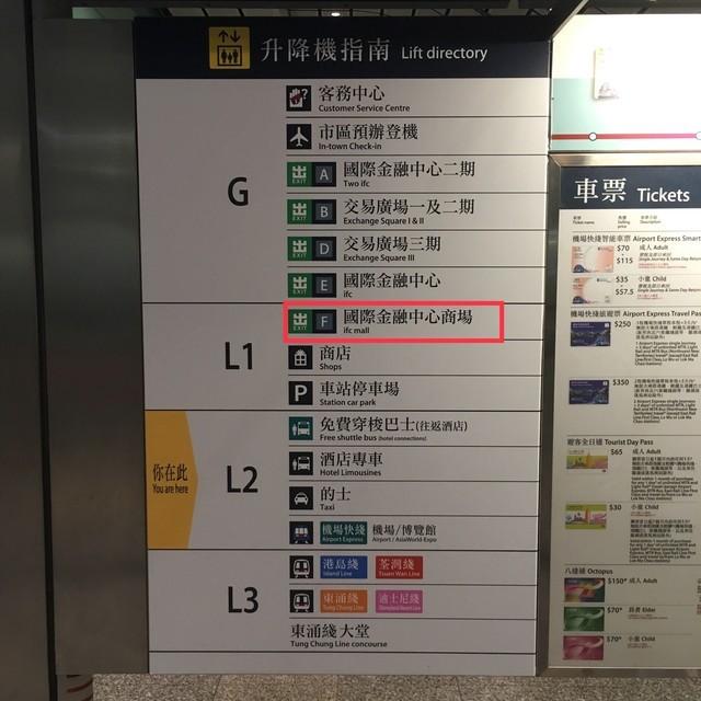 香港駅の案内板