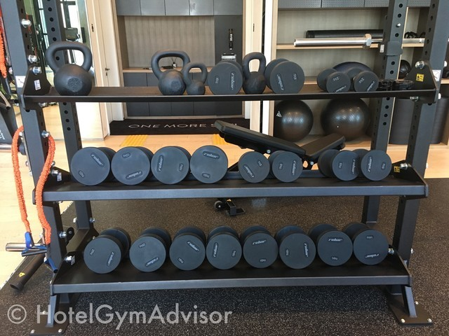 Dumbbells and kettlebells in RYSE, Autograph Collection