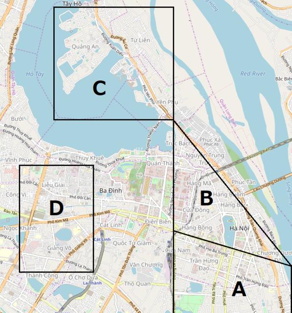 ハノイの地図
