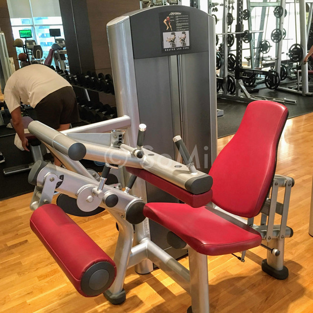 Leg  curl machine in Stanford Hotel Seoul