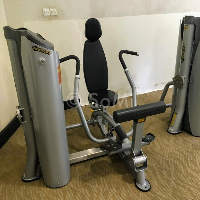 Chest press machine at Somerset Chancellor Court Ho Chi Minh City