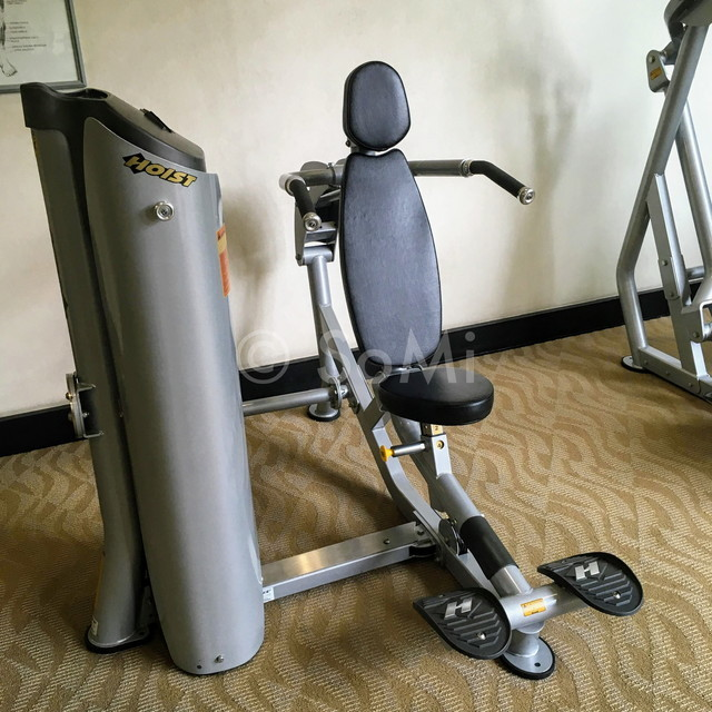 Shoulder press machine at Somerset Chancellor Court Ho Chi Minh City