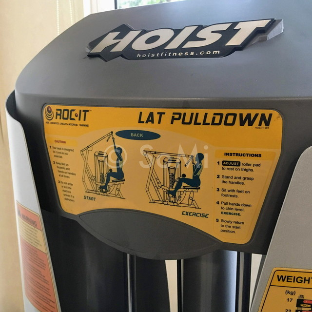 Instructions for use on lat pull down machine