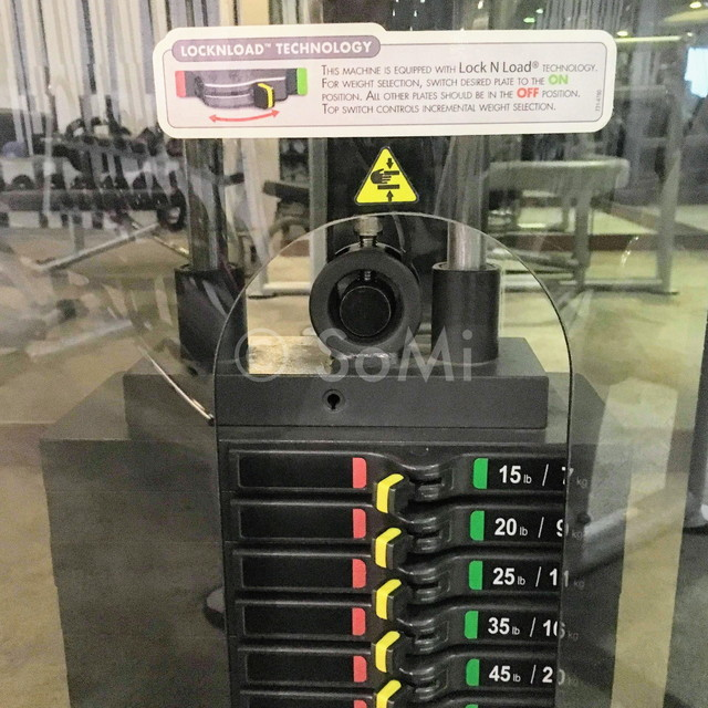 Weight machine at Muong Thanh Grand Saigon Centre Hotel