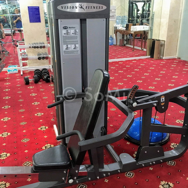 Shoulder press machine at Grand Hotel Saigon