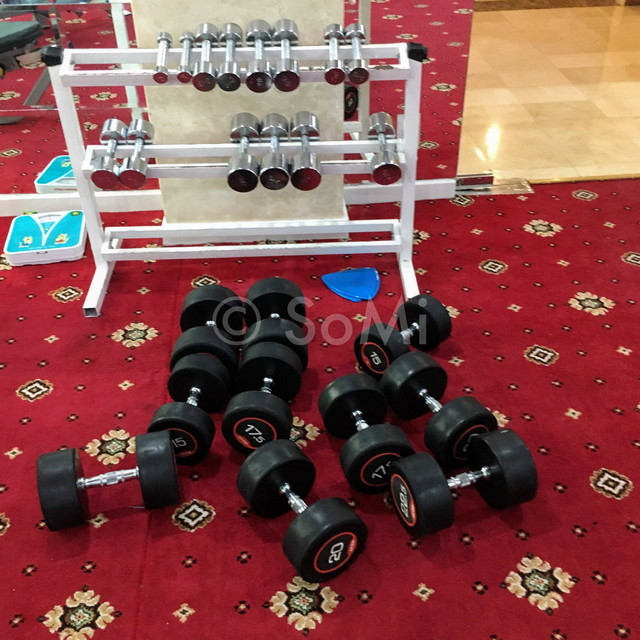Dumbbells at Grand Hotel Saigon