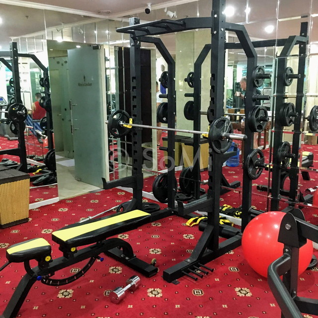 Squat rack at Grand Hotel Saigon