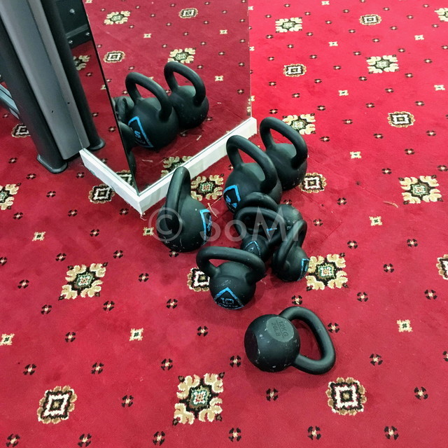 Kettlebells at Grand Hotel Saigon