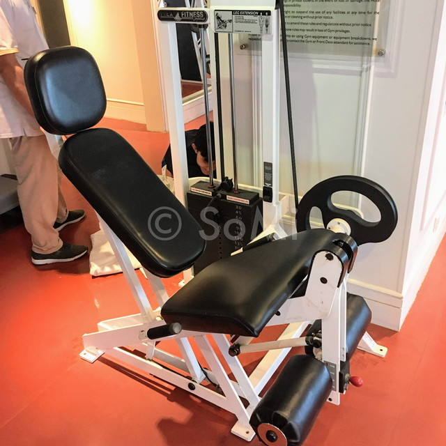 Leg extension machine at Renaissance Riverside Hotel Saigon