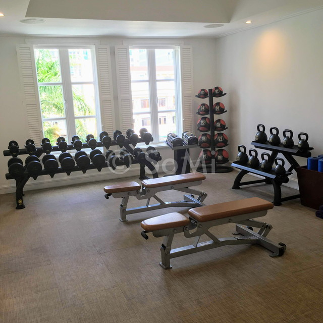 Dumbbells and kettlebells at Park Hyatt Saigon