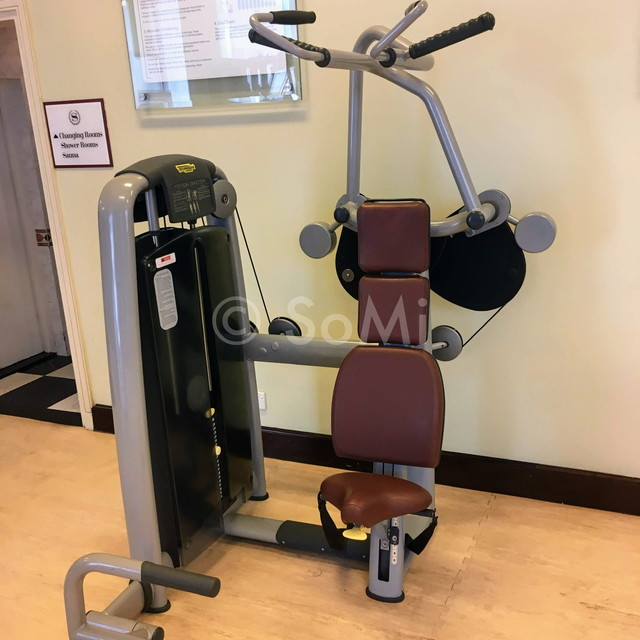 Lat pull down machine at Sheraton Saigon