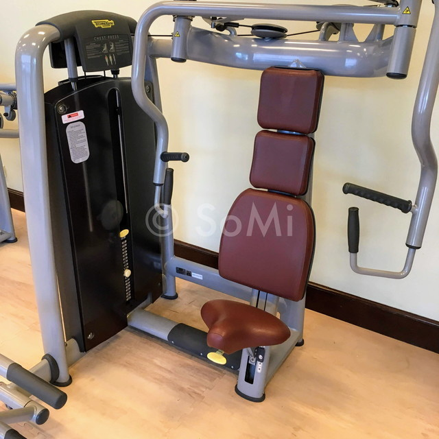 Chest press machine at Sheraton Saigon