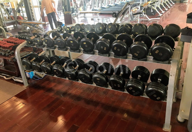 Dumbbells at Rex Hotel Saigon