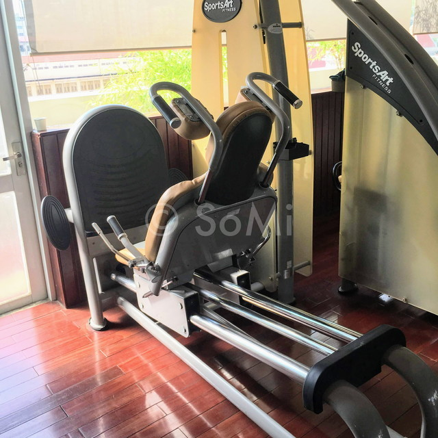 Leg press machine at Rex Hotel Saigon