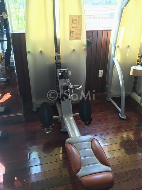 Seated row machine at Rex Hotel Saigon