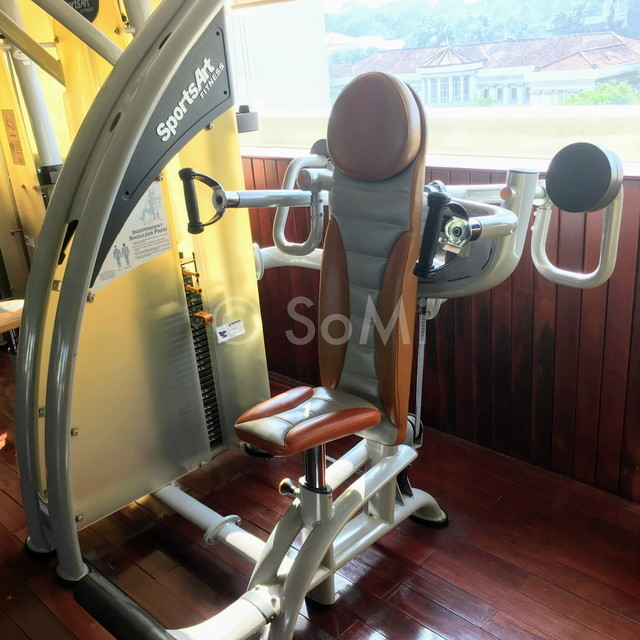 Shoulder press machine at Rex Hotel Saigon