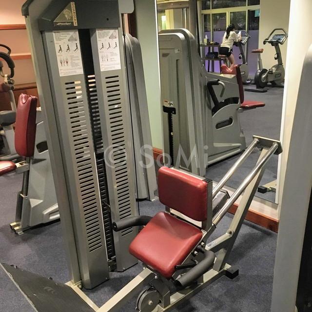 Leg press machine in New World Saigon Hotel