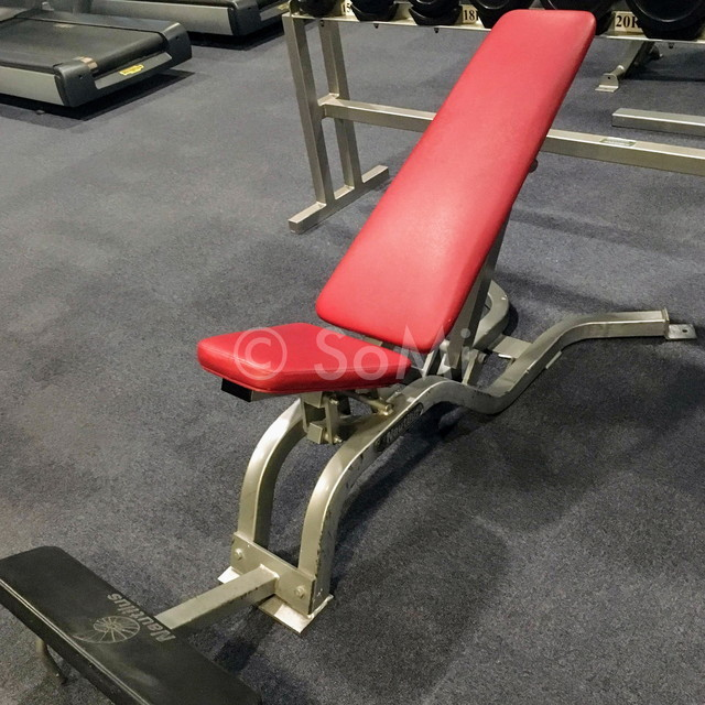 Flat-incline bench in New World Saigon Hotel