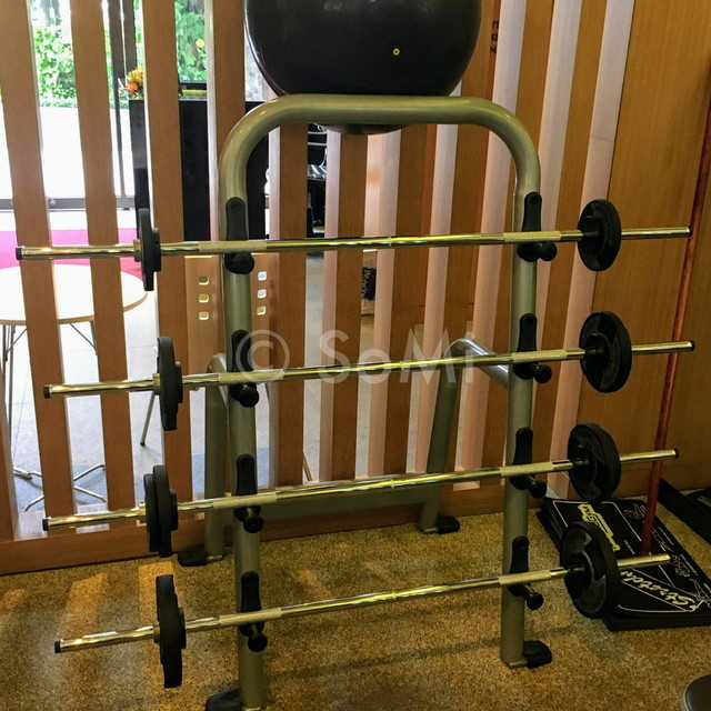 Barbell set at Lotte Legend Hotel Saigon
