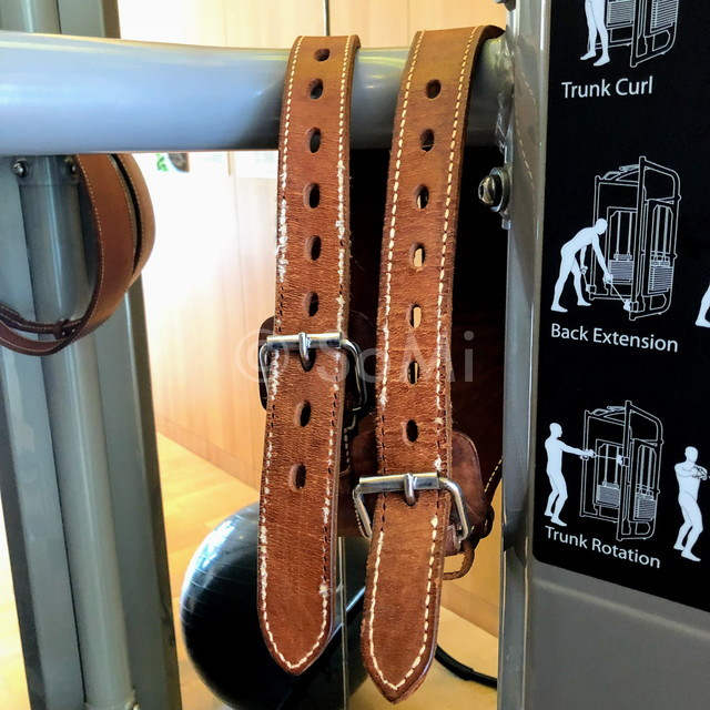 Weightlifting belts at Lotte Legend Hotel Saigon