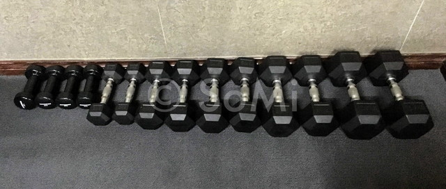 Dumbbells at Aquari Hotel