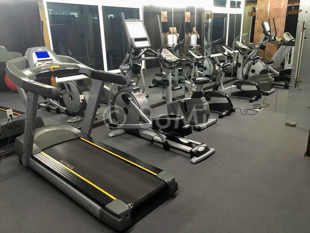 Cardio machines at Aquari Hotel