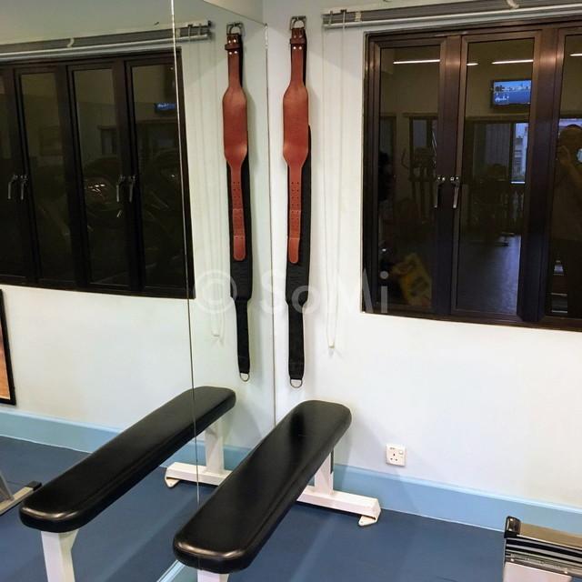 Weight lifting belts at Norfolk Mansion