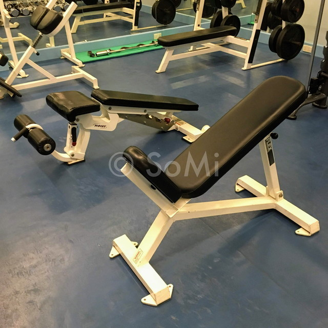 Incline bench and abdominal bench at Norfolk Mansion