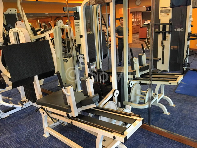 Weight machines at Sofitel Saigon Plaza Hotel
