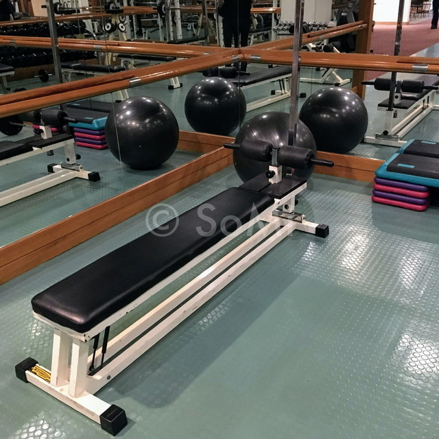 Bench and balance ball in Hotel Equatorial Ho Chi Minh City