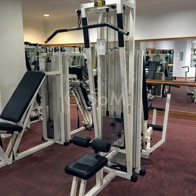 Lat pull down machine in Hotel Equatorial Ho Chi Minh City