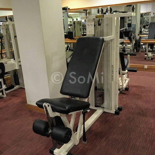 Leg extension machine in Hotel Equatorial Ho Chi Minh City