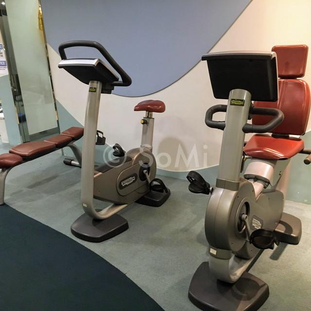 Cardio machines in Somerset Palace Seoul