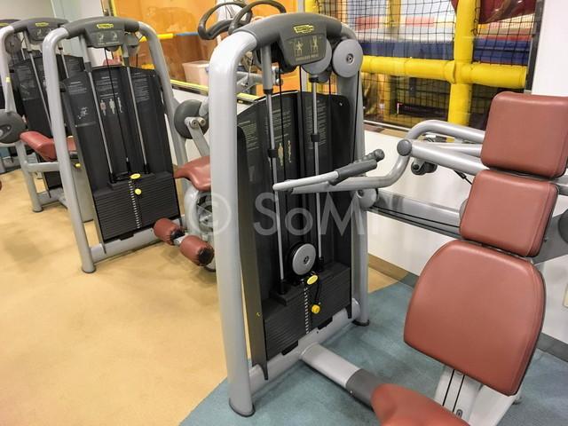 Shoulder press machine in Somerset Palace Seoul