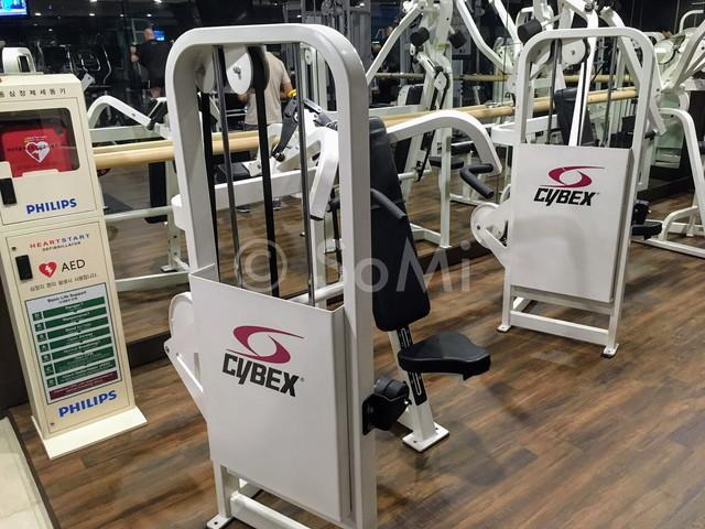 Shoulder press machine in Orakai Insadong Suites