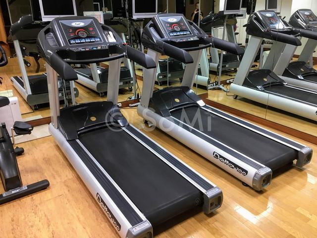 Cardio machines in the gym of Best Western Premier Gangnam Hotel