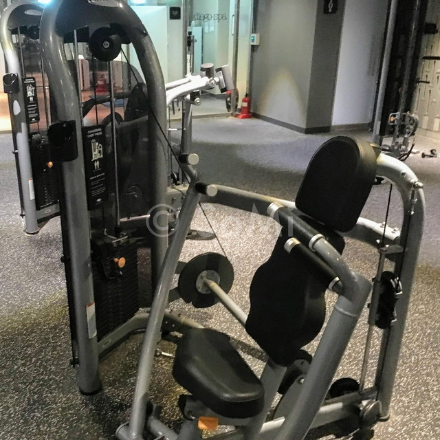 Chest press machine in the gym of Ramada by Wyndham Seoul