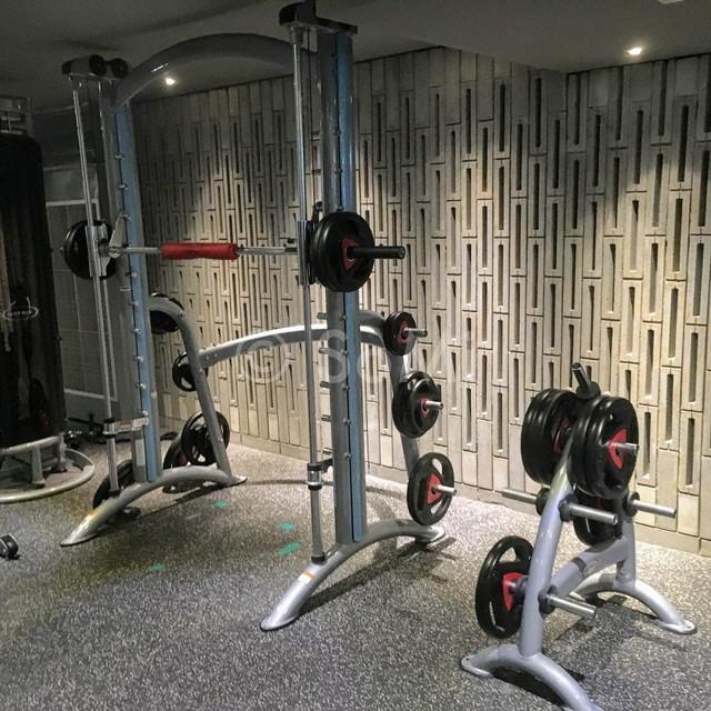 Smith machine in the gym of Ramada by Wyndham Seoul