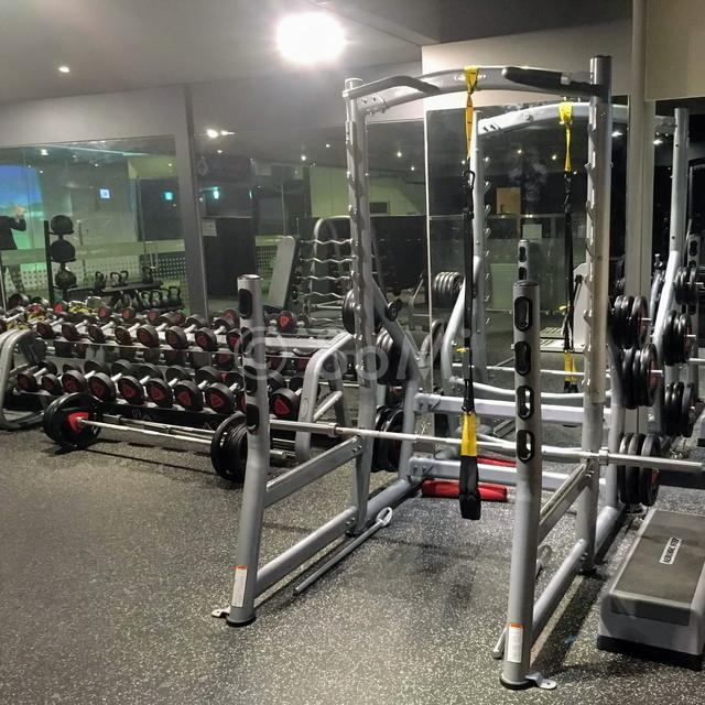 Squat rack in the gym of Ramada by Wyndham Seoul