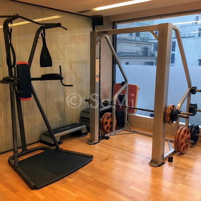 Smith  machine in the gym of Hotel Prima Seoul