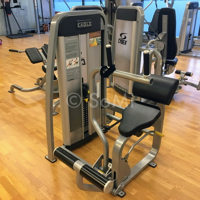 Abdominal machine in the gym of Hotel Prima Seoul