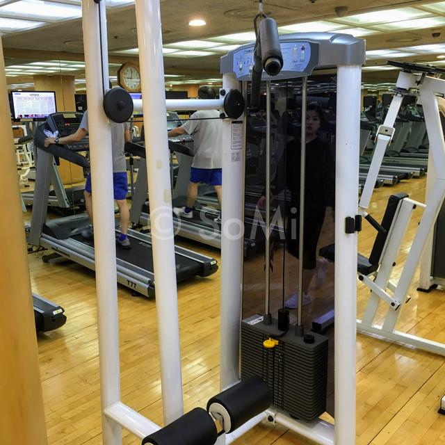 Lat pull down machine in the gym of Hotel Riviera Cheongdam