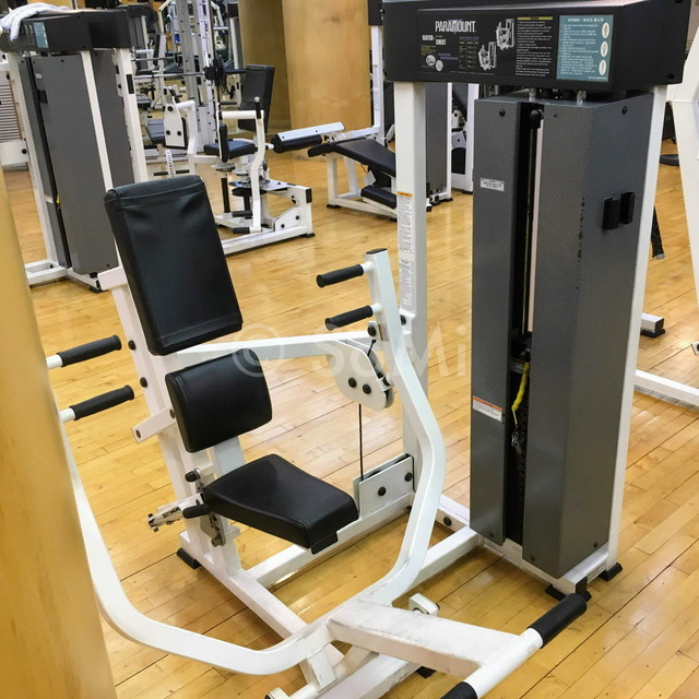 Chest press machine in the gym of Hotel Riviera Cheongdam